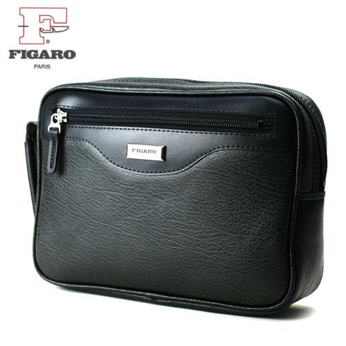 牛革 メンズ セカンドバッグ FIGARO フィガロ BASIC ベーシック No.38581-B ブラック 日本製