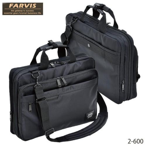 ビジネスバッグ FARVIS WIDE ファービス ワイド メンズバッグ No.2-600 ブラック