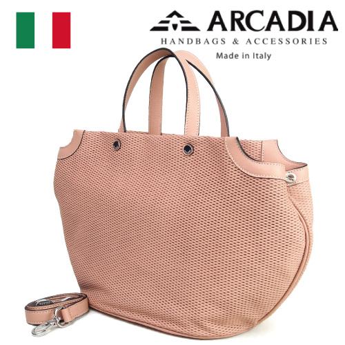 レディースバッグ イタリア製 牛革 2WAYハンドバッグ ARCADIA アルカディア Art.2565 CONFETTO ピンクベージュ