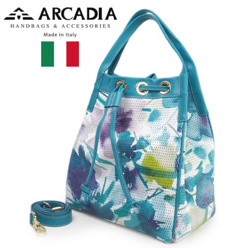 レディースバッグ イタリア製 牛革 2WAYハンドバッグ ARCADIA アルカディア Art.2784 TURCHESE ターコイズ