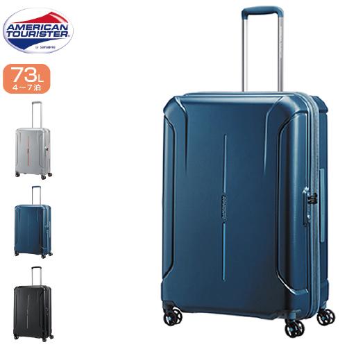 スーツケース 73リットル SAMSONITE サムソナイト American Tourister アメリカンツーリスター アメリカンツーリスター史上、最大級の収納力。ボックス型のハードケースコレクション TECHNUM テクナム Spinner 68cm 37G*002 軽量 ファスナー ジッパー