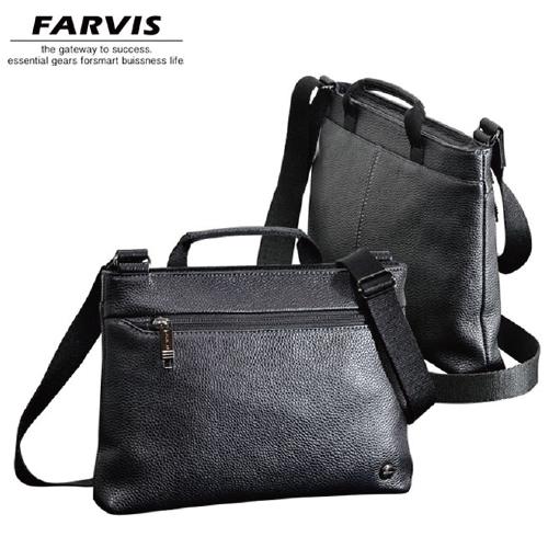 薄マチ横ショルダー FARVIS HOLIDAY ファービス ホリデー メンズバッグ 4-364 ブラック