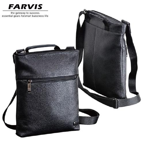 薄マチ縦ショルダー FARVIS HOLIDAY ファービス ホリデー メンズバッグ 4-365 ブラック