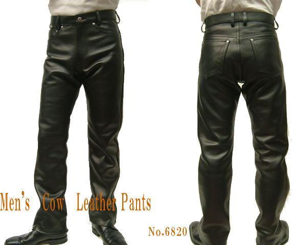 メンズ レザーパンツ カウ革パンツ ストレートタイプ 70~88cm 皮パンツ 革パン 皮パン 本革 レザーボトムズ 紳士皮革
