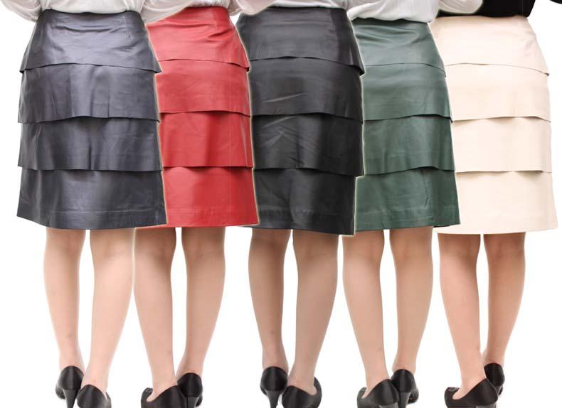 SALE商品! 有名ブランド レディース レザースカート 有名ブランド ティアード ラム革スカート 1136 ラムレザー 本革スカート