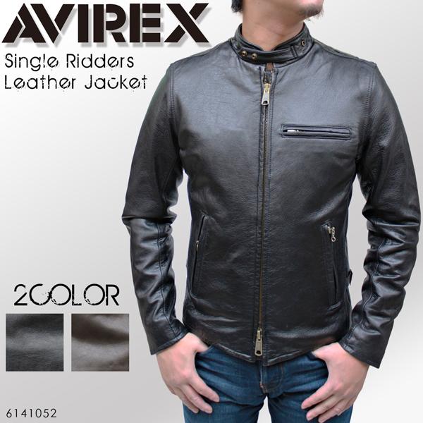 AVREX (avirex) 单雷桑德斯皮革夹克单车手 6141052 吉恩皮革皮夹克,avirex,皮革夹克,皮革夹克,皮革