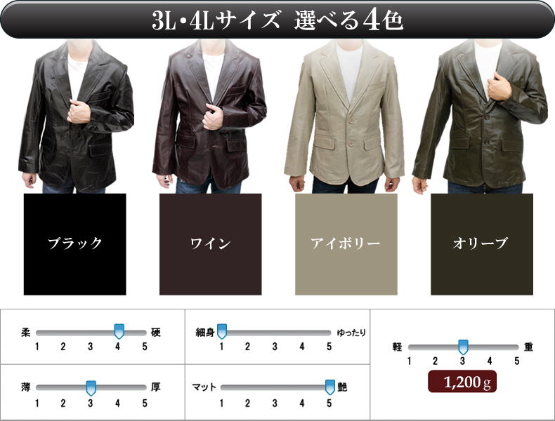 58c28544b (Large size ) Buffalo 2 button tailored Leather jacket (#3643) (color:Olive)