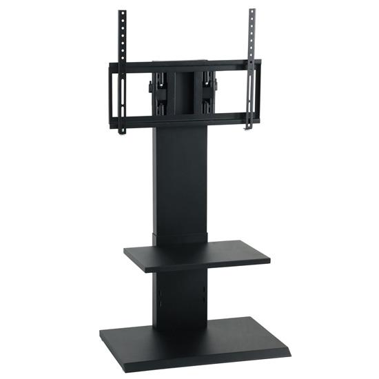 壁を傷つけずに壁掛け風にテレビを設置できます テレビを設置した状態で簡単にお好みの角度に調整できます 使い勝手の良い 壁掛け風アングルテレビ台 ロータイプ ブラック 毎日続々入荷 沖縄 組立式 離島不可 クロシオ