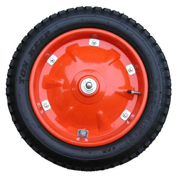 タ・チ・ホ16インチ 3.00-10(16×3)4PR タイヤ チューブ ホイール 農業用 一輪車 エアータイヤ