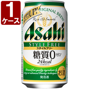 Asahi-style free carbohydrate zero 350ml×24 this [case] beer can transport one mouth < cans low-malt beer > * 3 case until [au16yf]