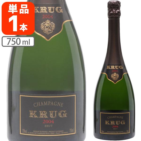 【送料無料】[数量限定] クリュッグ・ブリュット [2004] 750ml×1本 [並行輸入品]シャンパン シャンパーニュ[S.22523.0.SE]