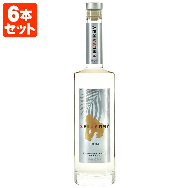 【6本セット送料無料】セルバレイ ラム ホワイト 40度 750ml×6本セット[1ケース]※北海道・九州・沖縄県は送料無料対象外です。※12本まで1個口配送可能<瓶洋酒><ラム>[T.641.2984.0.SE]