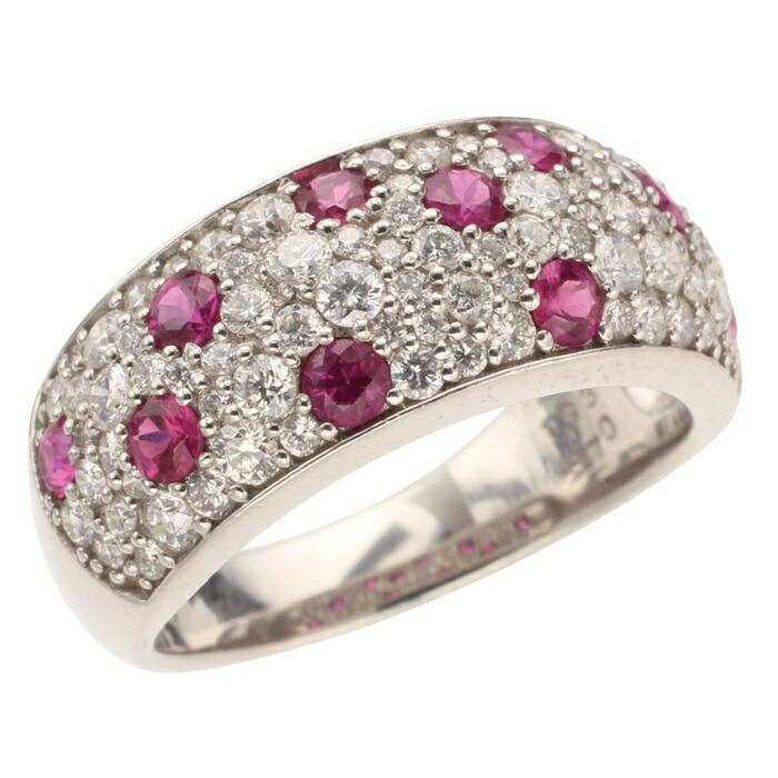 PTルビーダイヤモンドリング プラチナルビーリング カラーストーンリング ルビーの指輪