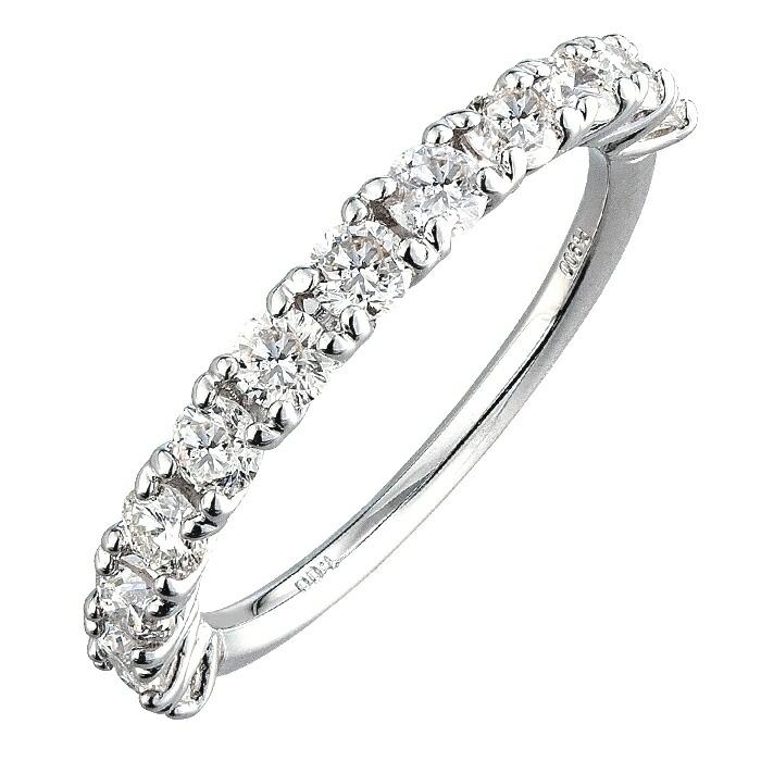 【kawasumi】PTダイヤモンドリング プラチナダイヤモンドリング ハーフエタニティ 記念日の贈り物