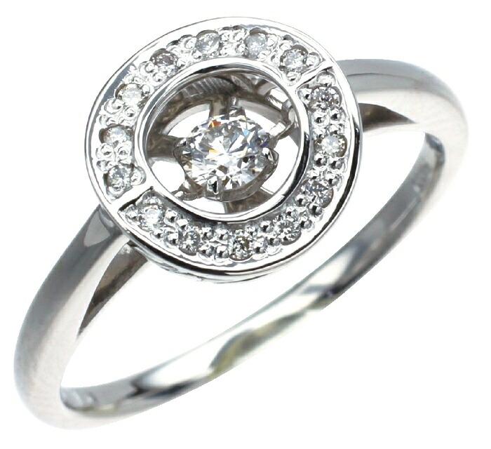 【kawasumi】PTダイヤモンドリング プラチナダイヤモンドリング ダンシングストーン ハート&キューピット お祝い