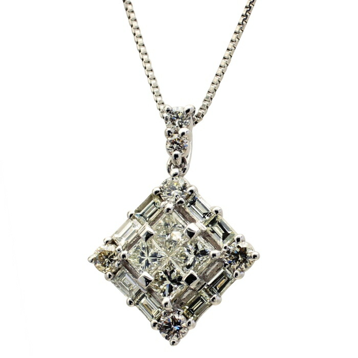 PTダイヤモンドプチネックレス プラチナネックレス 豪華 ゴージャス