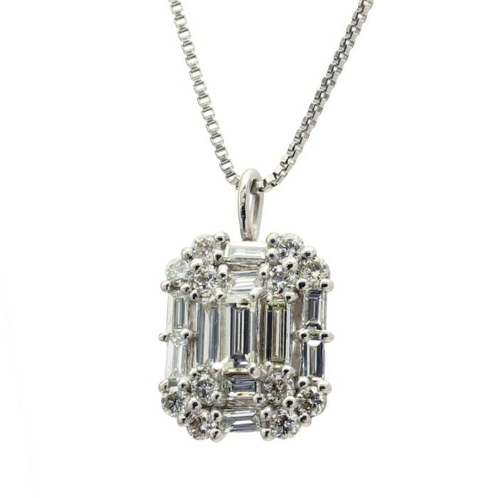 PTダイヤプチネックレス プラチナネックレス ダイヤモンドペンダント ゴージャス