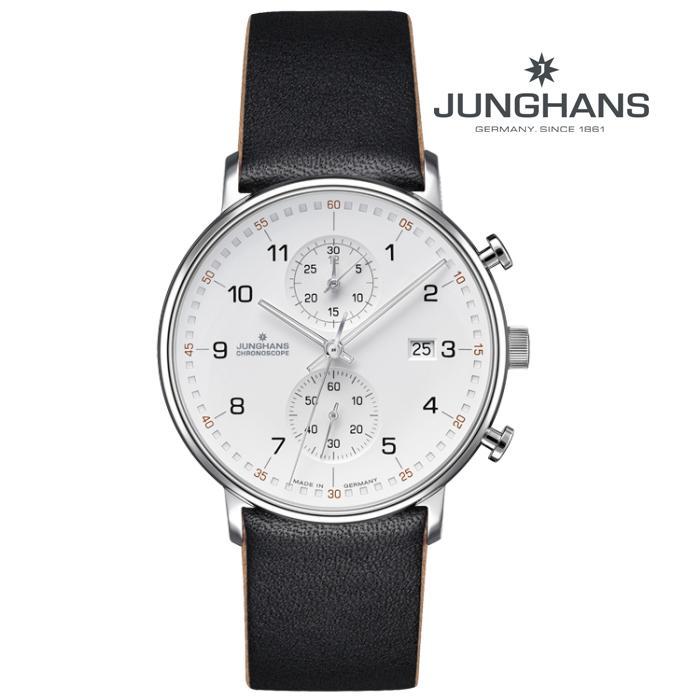 JUNGHANS ユンハンス 027_4771_00 クオーツ メンズ 腕時計 ウォッチ 時計 シルバー色 カーフストラップ 正規輸入品 メーカー保証付 誕生日プレゼント 男性 ギフト ブランド かっこいい もてる 送料無料