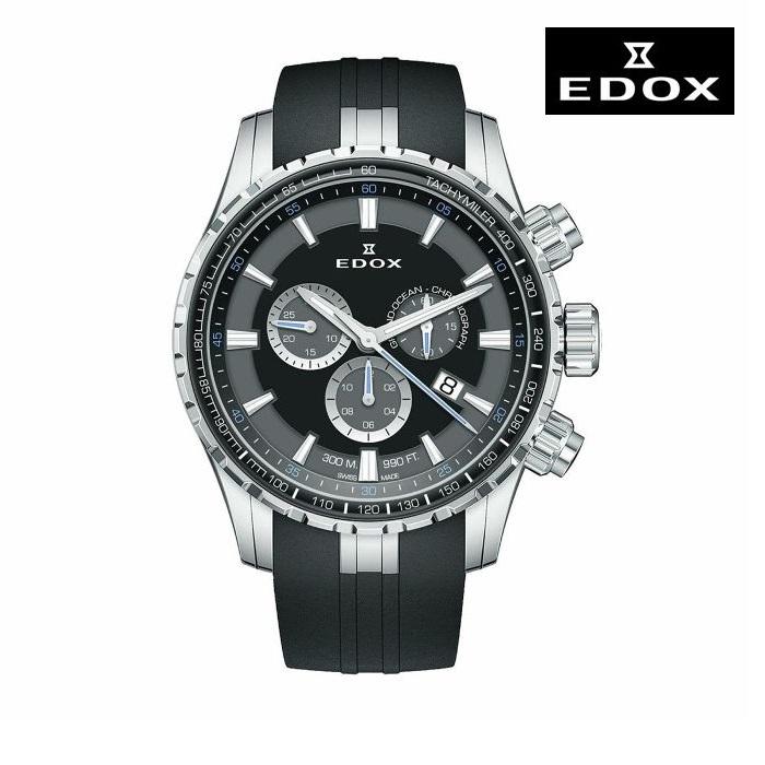 EDOX エドックス 10226-3CA-NBUN 電池式クオーツ メンズ 腕時計 ウォッチ 時計 シルバー色 ラバーストラップ 正規輸入品 メーカー保証付 誕生日プレゼント 男性 ギフト ブランド かっこいい もてる 送料無料