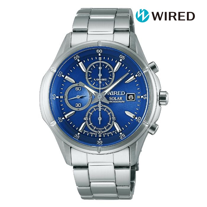 SEIKO セイコー WIRED ワイアード AGAD058 ソーラー メンズ 腕時計 ウォッチ 時計 シルバー色 金属ベルト 国内正規品 メーカー保証付 誕生日プレゼント 男性 ギフト ブランド かっこいい もてる 送料無料