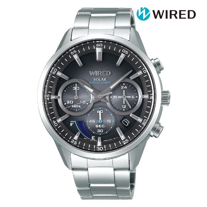 SEIKO セイコー WIREDワイアード AGAD095 ソーラー メンズ 腕時計 ウォッチ 時計 シルバー色 金属ベルト 国内正規品 メーカー保証付 誕生日プレゼント 男性 ギフト ブランド かっこいい もてる 送料無料