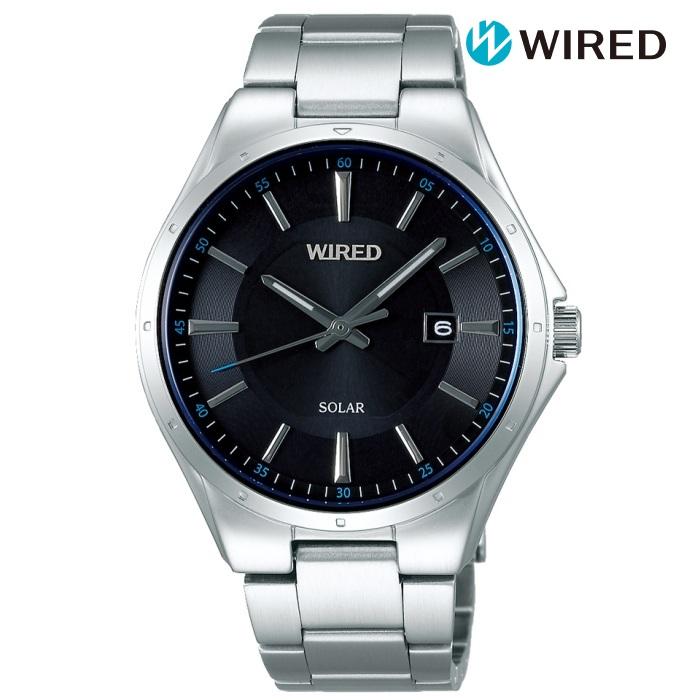 SEIKO セイコー WIREDワイアード AGAD402 ソーラー メンズ 腕時計 ウォッチ 時計 シルバー色 金属ベルト 国内正規品 メーカー保証付 誕生日プレゼント 男性 ギフト ブランド かっこいい もてる 送料無料