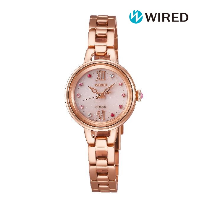 SEIKO セイコー WIREDf ワイアードエフ AGED093 ソーラー レディス 腕時計 ウォッチ 時計 ピンクゴールド色 金属ベルト 国内正規品 メーカー保証付 誕生日プレゼント 女性 ギフト ブランド おしゃれ 送料無料