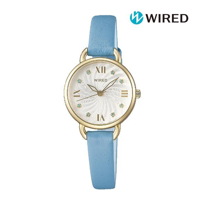SEIKO セイコー WIREDf ワイアードエフ AGEK445 電池式クォーツ レディス 腕時計 ウォッチ 時計 シャンパンゴールド色 カーフストラップ 国内正規品 メーカー保証付 誕生日プレゼント 女性 ギフト ブランド おしゃれ 送料無料