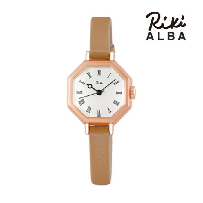 SEIKO セイコー ALBA アルバ リキ AKQK457 クオーツ レディス 腕時計 ウォッチ 時計 ピンクゴールド色 カーフストラップ  国内正規品 メーカー保証付 誕生日プレゼント 女性 ギフト ブランド おしゃれ 送料無料