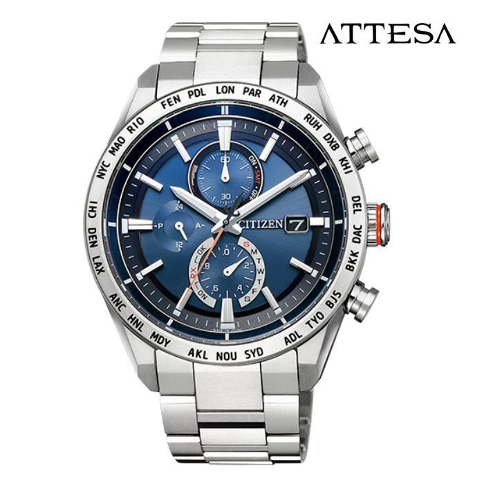CITIZEN シチズン アテッサ ATTESA AT8181-63L エコ・ドライブ電波 メンズ 腕時計 ウォッチ 時計 シルバー色 金属ベルト 国内正規品 メーカー保証付 誕生日プレゼント 男性 ギフト ブランド かっこいい もてる 送料無料