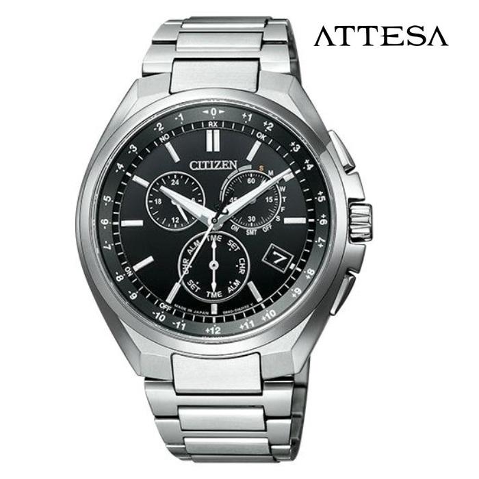 CITIZEN シチズン アテッサ ATTESA CB5040-80E エコ・ドライブ電波 メンズ 腕時計 ウォッチ 時計 シルバー色 金属ベルト 国内正規品 メーカー保証付 誕生日プレゼント 男性 ギフト ブランド かっこいい もてる 送料無料