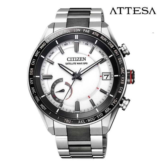 CITIZEN シチズン アテッサ ATTESA CC3085-51A エコ・ドライブGPS衛星電波 メンズ 腕時計 ウォッチ 時計 ツートン色 金属ベルト 国内正規品 メーカー保証付 誕生日プレゼント 男性 ギフト ブランド かっこいい もてる 送料無料