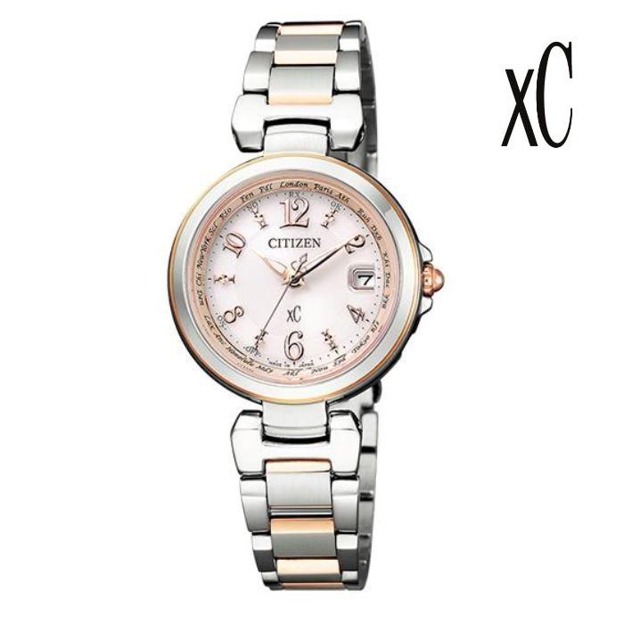 CITIZEN シチズン XC クロスシー EC1036-53W エコ・ドライブ電波 レディス 腕時計 ウォッチ 時計 コンビ色 金属ベルト 国内正規品 メーカー保証付 誕生日プレゼント 女性 ギフト ブランド おしゃれ 送料無料