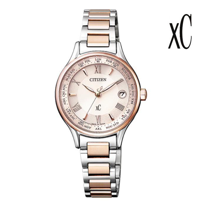 CITIZEN シチズン XC クロスシー EC1165-51W エコ・ドライブ電波 レディス 腕時計 ウォッチ 時計 コンビ色 金属ベルト 国内正規品 メーカー保証付 誕生日プレゼント 女性 ギフト ブランド おしゃれ 送料無料
