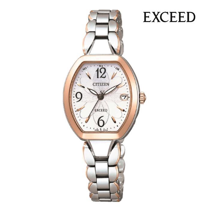 CITIZEN シチズン EXCEED エクシード ES8064-56A エコ・ドライブ電波 レディス 腕時計 ウォッチ 時計 コンビ色 金属ベルト 国内正規品 メーカー保証付 誕生日プレゼント 女性 ギフト ブランド おしゃれ 送料無料