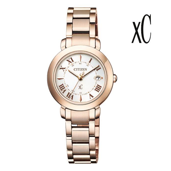 CITIZEN シチズン XC クロスシー ES9444-50A エコ・ドライブ電波 レディス 腕時計 ウォッチ 時計 サクラ色 金属ベルト 国内正規品 メーカー保証付 誕生日プレゼント 女性 ギフト ブランド おしゃれ 送料無料