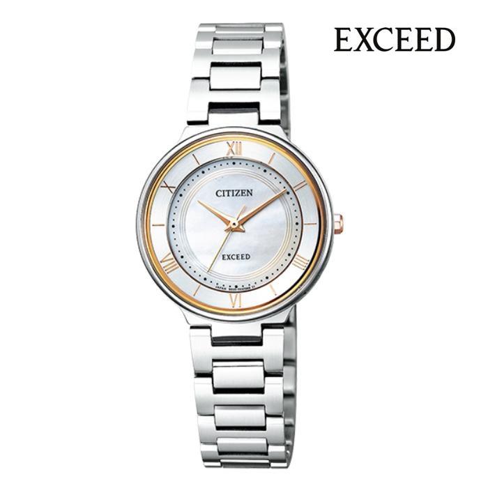 CITIZEN シチズン EXCEED エクシード EX2090-57P エコ・ドライブ レディス 腕時計 ウォッチ 時計 コンビ色 金属ベルト 国内正規品 メーカー保証付 誕生日プレゼント 女性 ギフト ブランド おしゃれ 送料無料