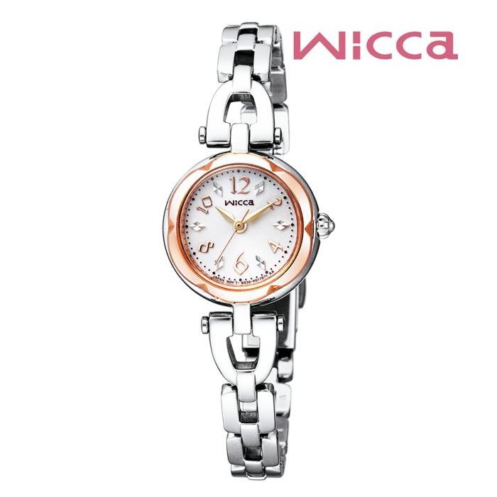 CITIZEN シチズン Wicca ウィッカ KF2-510-11ソーラーテック レディス 腕時計 ウォッチ 時計 コンビ色 金属ベルト 国内正規品 メーカー保証付 誕生日プレゼント 女性 ギフト ブランド おしゃれ 送料無料