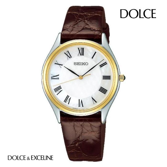 SEIKO セイコー ドルチェ DOLCE SACM152 電池式クォーツ メンズ 腕時計 ウォッチ 時計 コンビ色 レザーストラップ 国内正規品 メーカー保証付 誕生日プレゼント 男性 ギフト ブランド かっこいい もてる 送料無料