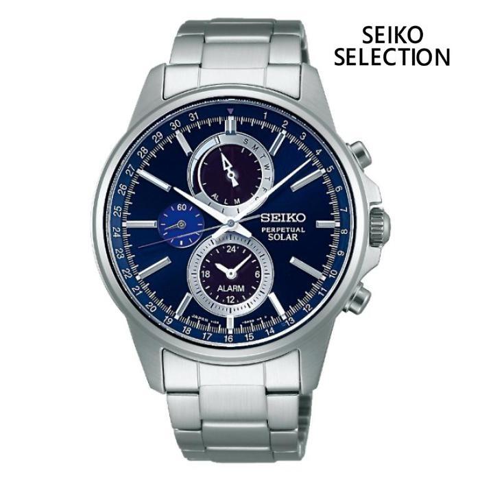SEIKO セイコー SEIKO-SELECTION セイコーセレクション SBPJ003 ソーラー メンズ 腕時計 ウォッチ 時計 シルバー色 金属ベルト 国内正規品 メーカー保証付 誕生日プレゼント 男性 ギフト ブランド かっこいい もてる 送料無料