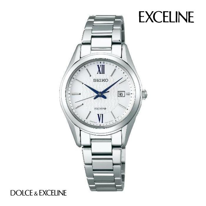 SEIKO セイコー エクセリーヌ EXCELINE SWCW145 ソーラー電波 レディース 腕時計 ウォッチ 時計 グレー色 金属ベルト 国内正規品 メーカー保証付 誕生日プレゼント 女性 ギフト ブランド おしゃれ 送料無料