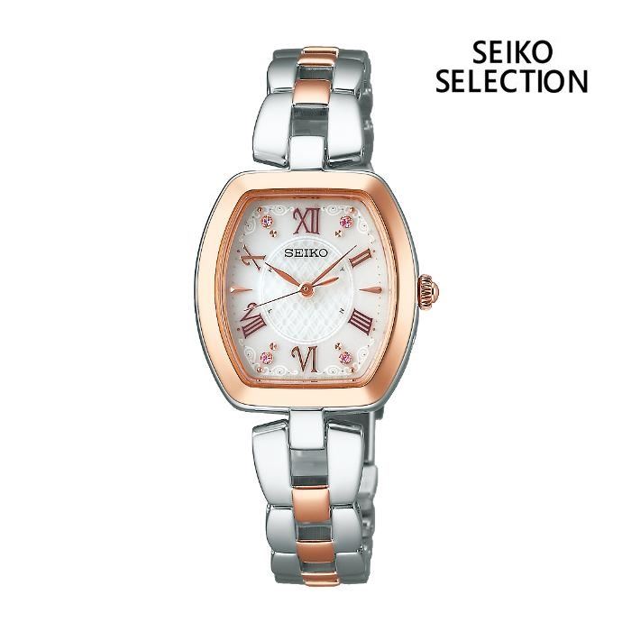 SEIKO セイコー SEIKO-SELECTION セイコーセレクション SWFH098 ソーラー電波 レディス 腕時計 ウォッチ 時計 コンビ色 金属ベルト 国内正規品 メーカー保証付 誕生日プレゼント 女性 ギフト ブランド おしゃれ 送料無料