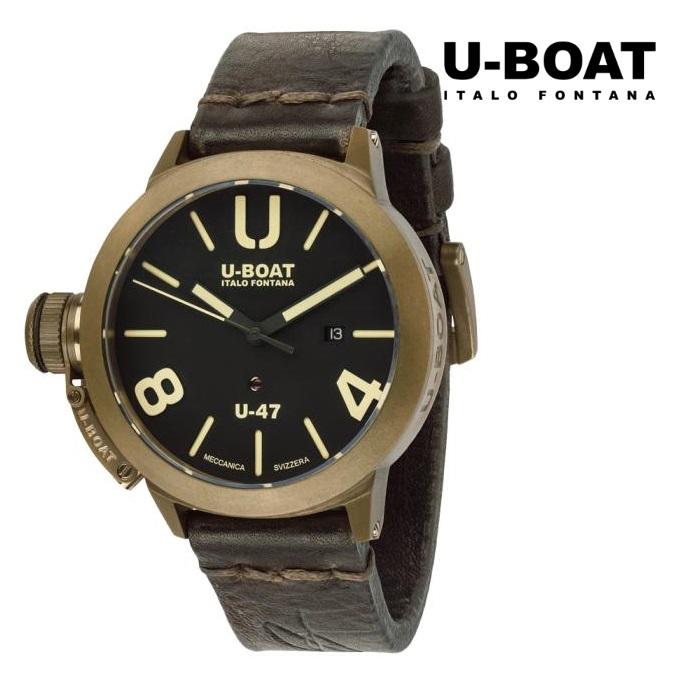 U-BOAT ユーボート 7797 メカニカル 自動巻き メンズ 腕時計 ウォッチ 時計 ブロンズ色 カーフストラップ 正規輸入品 メーカー保証付 誕生日プレゼント 男性 ギフト ブランド かっこいい もてる 送料無料