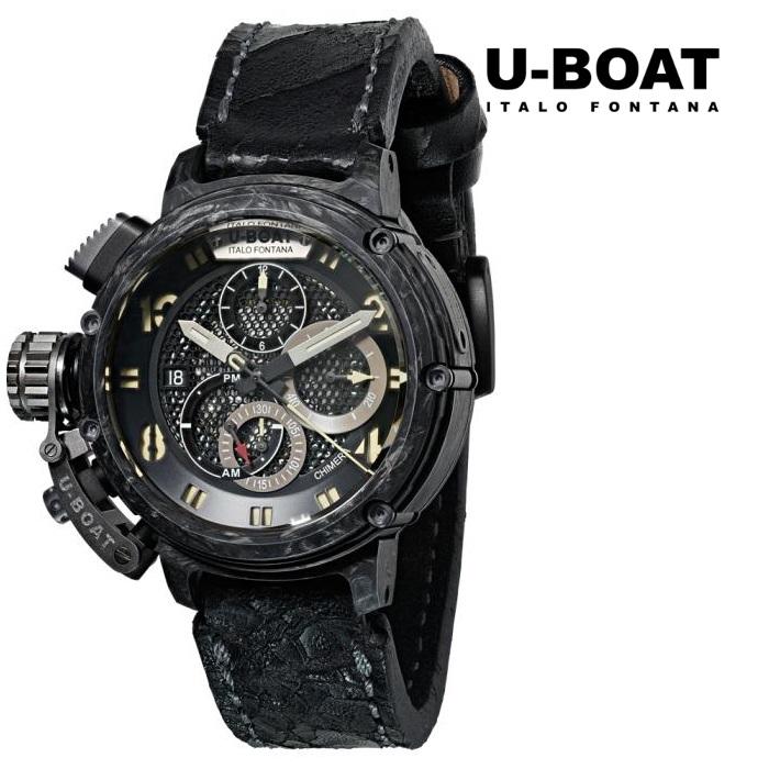 U-BOAT ユーボート 8057 限定品 メカニカル 自動巻き メンズ 腕時計 ウォッチ 時計 グレー色 レザーストラップ 正規輸入品 メーカー保証付 誕生日プレゼント 男性 ギフト ブランド かっこいい もてる 送料無料