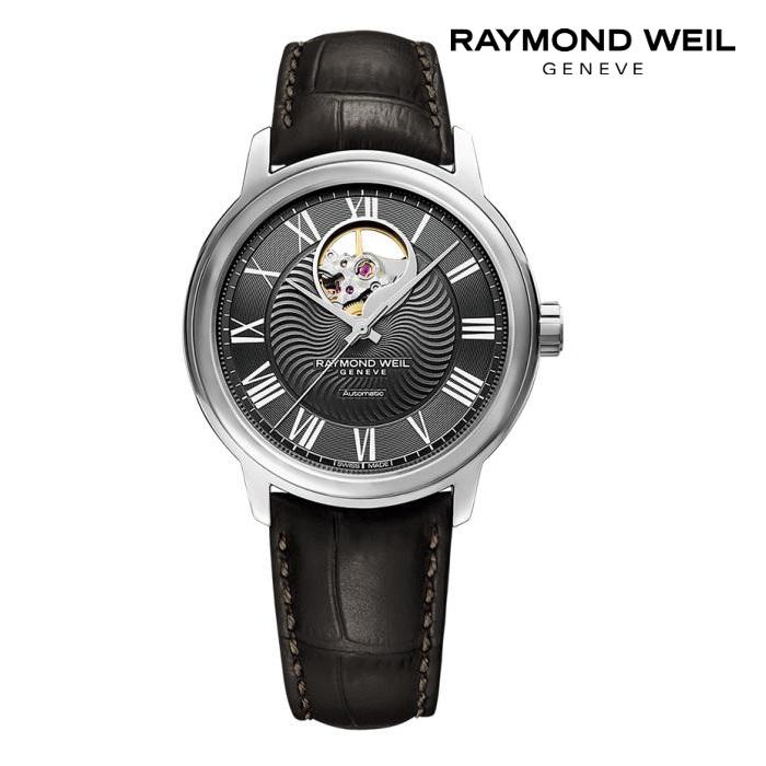 RAYMONDO WEIL レイモンドウェイル 2227-STC-00609 メカニカル 自動巻き メンズ 腕時計 ウォッチ 時計 シルバー色 カーフストラップ 正規輸入品 メーカー保証付 誕生日プレゼント 男性 ギフト ブランド かっこいい もてる 送料無料