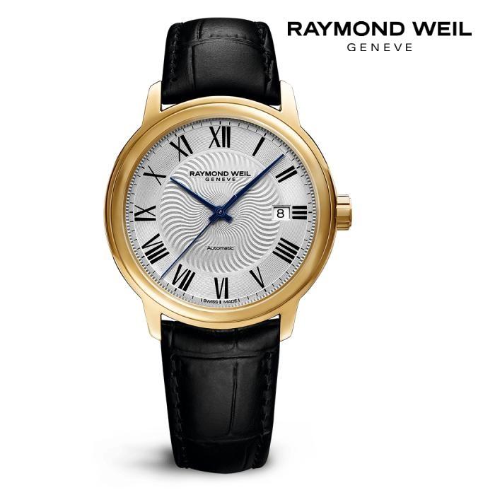 RAYMONDO WEIL レイモンドウェイル 2237-PC-00659 メカニカル 自動巻き メンズ 腕時計 ウォッチ 時計 イエローゴールド色 カーフストラップ 正規輸入品 メーカー保証付 誕生日プレゼント 男性 ギフト ブランド かっこいい もてる 送料無料