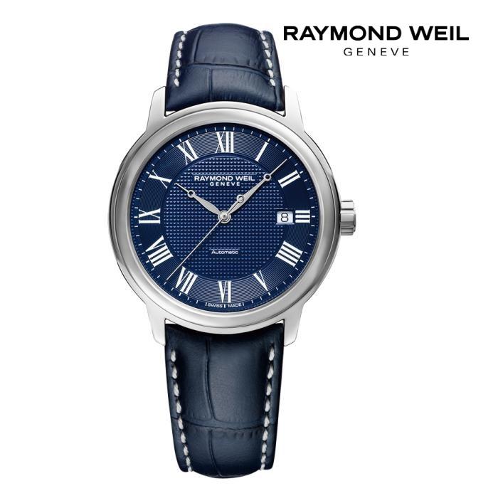 RAYMONDO WEIL レイモンドウェイル 2237-STC-J0508 メカニカル 自動巻き メンズ 腕時計 ウォッチ 時計 シルバー色 カーフストラップ 正規輸入品 メーカー保証付 誕生日プレゼント 男性 ギフト ブランド かっこいい もてる 送料無料