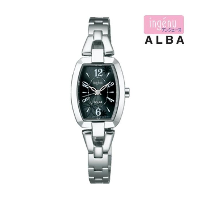 SEIKO セイコーアルバ ingénue アンジェーヌ AHJD060 ソーラー レディス 腕時計 ウォッチ 時計 シルバー色 金属ベルト 国内正規品 メーカー保証付 誕生日プレゼント 女性 ギフト ブランド おしゃれ 送料無料