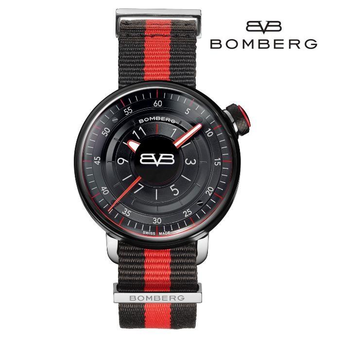 BOMBERG ボンバーグ CT43H3PBA_01_2_9 クオーツ メンズ 腕時計 ウォッチ 時計 ブラック色 ファブリックストラップ 正規輸入品 メーカー保証付 誕生日プレゼント 男性 ギフト ブランド かっこいい もてる 送料無料