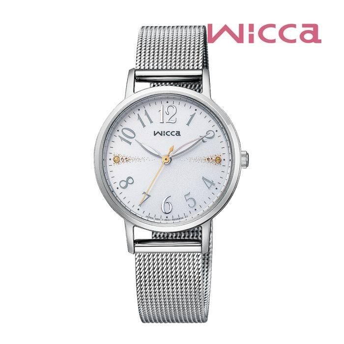 CITIZEN シチズン Wicca ウィッカ KP5-115-11 ソーラーテック レディス 腕時計 ウォッチ 時計 シルバー色 金属ベルト 国内正規品 メーカー保証付 誕生日プレゼント 女性 ギフト ブランド おしゃれ 送料無料